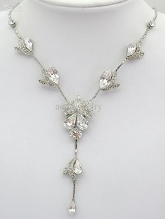 Wholesale Simulated diamond Earring Necklace Set Bride Bridesmaid Wedding Prom Party gift Rhinestone Crystal jewelry H022 B, Free shipping, $7.79/Piece | DHgate Mobile