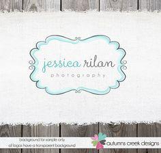 Photography Logo - Premade Logo Design Hand Drawn Swirl Frame Logo for photographer