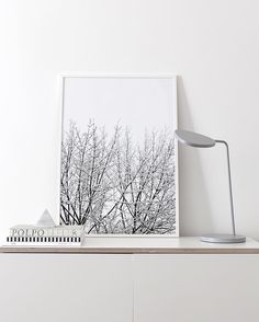 Muuto LEAF table lamp + The new 'Snowy Tree' print now available in my shop. #cocolapine