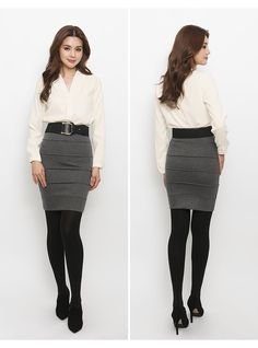 Waist Skirt, High Waisted Skirt, Fashion Tights, Korean Fashion, Leather Skirt, Skirts, Model, Suits, K Fashion
