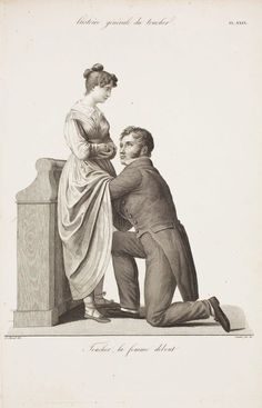 Classic illustration of a woman's medical exam by her doctor. Many century medical textbooks used this illustration to show the proper manner to examine a female patient. Illustrations Médicales, Feeling Faint, Male Doctor, Medical Examination, Medical History, Jane Austen, Time Travel, Animals And Pets, Haha