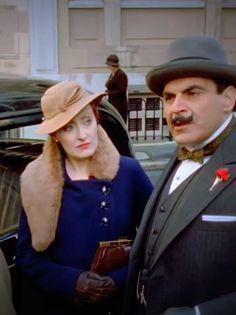 Hercule Poirot | 1930's fashion. Miss Lemon and Poirot.