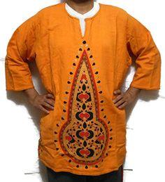 Men Women Mud Cloth African Dashiki Blouse Organic Top Orange Poncho One Size African Dashiki Shirt, Dashiki For Men, African Blouses, African Tops, African Shirts For Men, Vintage Outfits, Vintage Clothing, Vintage Tops, Casual Shirts