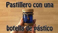Pastillero o cajita reciclando una botella de plástico. Pill box or a plastic bottle recycling.