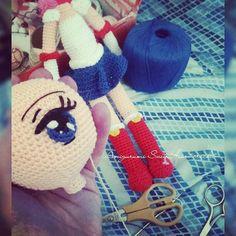Eyes ✌  #amigurumi #crochetdoll #animeeyes #SailorMoon #madebyChiharuSuh #curitiba #kawaii #animedoll #doll #handmade #AmigurumiSweetHeart #boatarde #otaku #otome #eyes #crochet #artdoll