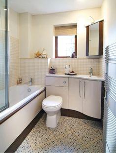 Brighten a windowless bathroom Bathroom Niche, Compact Bathroom, Mold In Bathroom, Bathroom Layout, Bathroom Shower Curtains, Bathroom Faucets, Bathroom Remodeling, Bathroom Ideas, Bathroom Inspo