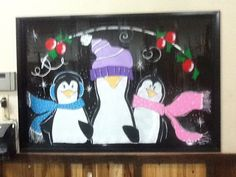Holiday Window Paintings
