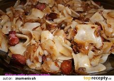 Fleky se zelím recept - TopRecepty.cz Pasta Salad, Cauliflower, Macaroni And Cheese, Cabbage, Food And Drink, Treats, Chicken, Vegetables, Cooking
