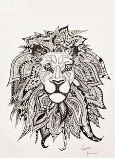 Winged lion tattoo - photo#21