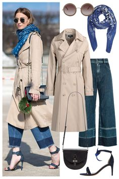 Shop this classic trench coat outfit spotted at Paris Fashion Week, here: