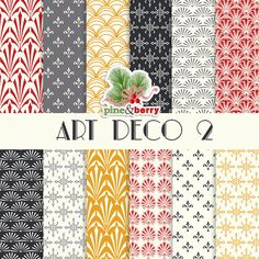 Art Deco 2 Digital Paper Pack  Art Deco 12 by PineAndBerryShop, $3.00