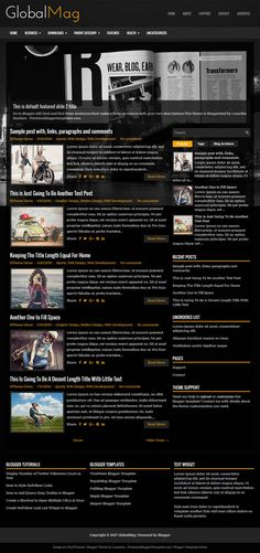 GlobalMag Blogger Template:  GlobalMag is a Clean, News/Magazine, Responsive, 2 Columns Blogger Template with a Right Sidebar and 3 Columns Footer. GlobalMag Blogger Template has Google Fonts, Featured Slider, 2 Menus, Related Posts, Auto Read More, Breadcrumb, Social and Share Buttons, Tabbed Widget and More Features.  http://www.premiumbloggertemplates.com/globalmag-blogger-template/