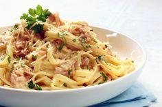Pasta carbonara, zo maak je de allerlekkerste pasta carbonara...zoals het hoort, lekker makkelijk en snel