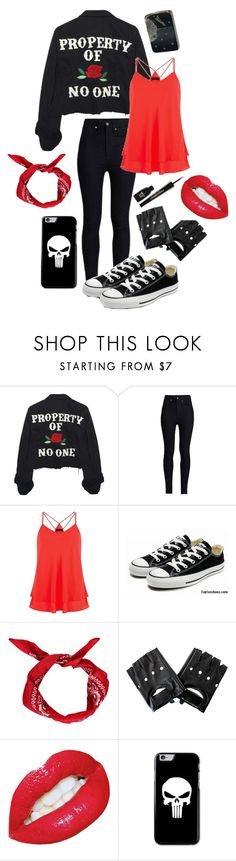 """""""Property of No One"""" by ticci-toby ❤ liked on Polyvore featuring High Heels Suicide, Rodarte, Converse, Boohoo, Zippo and Napoleon Perdis"""
