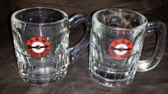 2 A&W Root Beer Mugs  1940s Logo  Very Nice by InclusiveVintage