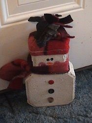Doorstop Snowman