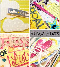 30 Days of Lists book by Basically Bare designer Becky Launder (Lots more photos on the blog post!)