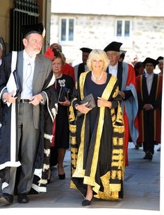 Camilla at the University of Aberdeen, which conferred her with the title of Chancellor (the University's first woman) and gave her an honorary degree 10 June 2013