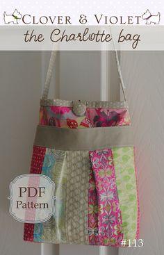 the Charlotte purse (pdf sewing pattern). $9.00, via Etsy.
