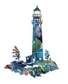 "Lookout (Lighthouse Scene) 24"" Metal Wall Art"