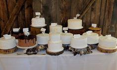 Cake for everyone!  #rusticwedding #evergreenmemorialbarn #barnwedding www.kelleykakes.com Rustic Wedding, Wedding Cakes, Wedding Gown Cakes, Cake Wedding, Wedding Cake, Wedding Pies
