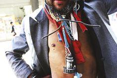Morador de rua peculiar na região do centro velho de São Paulo