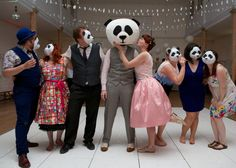 Crazy panda wedding photos