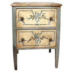 19th c. Painted Petit Commode | 1stdibs.com