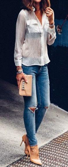 Blue Jeans+High heels + Skinny Purse - Amazing Views