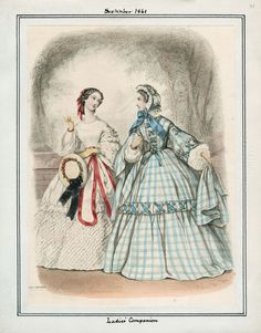 September, 1861 - Ladies' Companion // see below: September, 1861 - La Sylphide