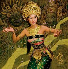 BALINESE DANCER........BY KARL BANG....PARTAGE OF  MAHER ART GALLERY.....ON FACEBOOK......