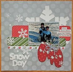 snow scrapbooking pages ideas | Scrapbook page layout ideas, cards, tags and more!