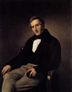 HAYEZ, Francesco Portrait of Alessandro Manzoni 1841 Oil on canvas, 118 x 92 cm Pinacoteca di Brera, Milan