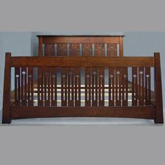 This ARTS and CRAFTS King Bed Mackintosh Style is just one of the custom, handmade pieces you'll find in our beds & headboards shops.