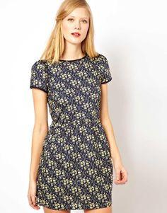 Sessun | Sessun Cap Sleeve Dress in Liberty Floral Print at ASOS