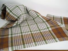 Handwoven Dish Towel in Cotton/Linen. Etsy. Lovely work making all that plaid.