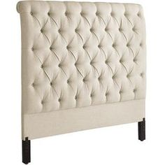 "Audrey Headboard | Pier 1 | hand-tufted flax upholstery | 62""h 