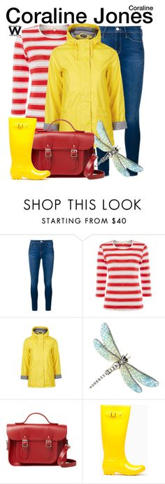 """""""Coraline"""" by wearwhatyouwatch ❤ liked on Polyvore featuring Frame Denim, Topshop, The Cambridge Satchel Company, wearwhatyouwatch and film"""