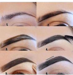 Make Up; Make Up Looks; Make Up Augen; Make Up Prom;Make Up Face; Eyebrow Makeup Tips, Skin Makeup, Beauty Makeup, Eyebrow Pencil, Makeup Steps, Makeup Eyebrows, Henna Eyebrows, Eyebrow Brush, Eyebrow Products