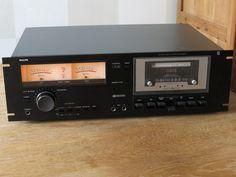 """PHILIPS Stereo Cassette Deck N5438 19"""" Rack Mount / Black Tulip"""