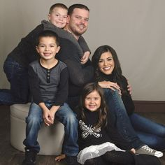 Family Photography from JCPenney Portrait Studios - Photo Idea Family Photo Studio, Studio Family Portraits, Family Portrait Outfits, Family Portrait Poses, Family Picture Poses, Family Picture Outfits, Family Posing, Poses For Family Pictures, Family Photo Shoot Ideas