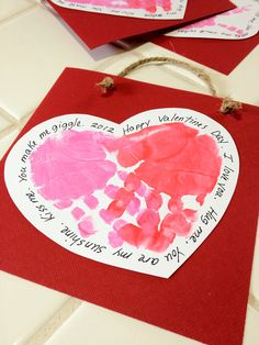handprint valentines could use with a poem wrapped around for a friendship artwriting contest - Valentines Projects For Preschoolers