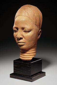 Terracotta Head of a woman, 12th-15th century, Yoruba people of Nigeria