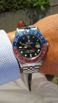 Rolex GMT Master 1675 Pepsi from 1968