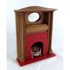 Dolls House 1:12 Scale Miniature Lounge Furniture Resin Arts & Crafts Fireplace - Melody Jane Dolls Houses Ltd
