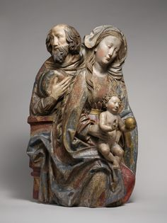 Holy Family Niclaus Weckmann (1481-1528).  Date:     ca. 1500. Culture:     South German. Medium:     Limewood with traces of paint and gilding.