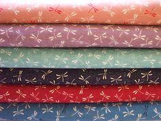 Beautiful Japanese Fabric - Dragonfly - 6 Fat Quarter Bundle Set