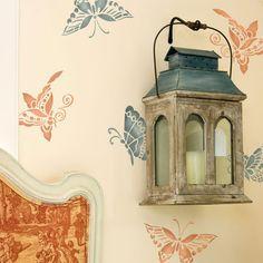 Furniture Stencils | Chinoiserie Butterflies | Royal Design Studio Chinoiserie Butterflies Furniture Stencil $29.00