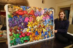 The 18-year-old from Denmark is on a quest to weave thousands of decorative beads into a stunning Pokémon art project.
