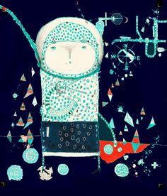 Alien Art Print by Nayoun Kim | Society6